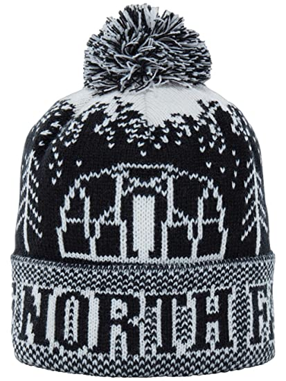 16313019fcc7d Amazon.com: The North Face Men's Fair Isle Pom Beanie (One Size) - black,  one size: Clothing