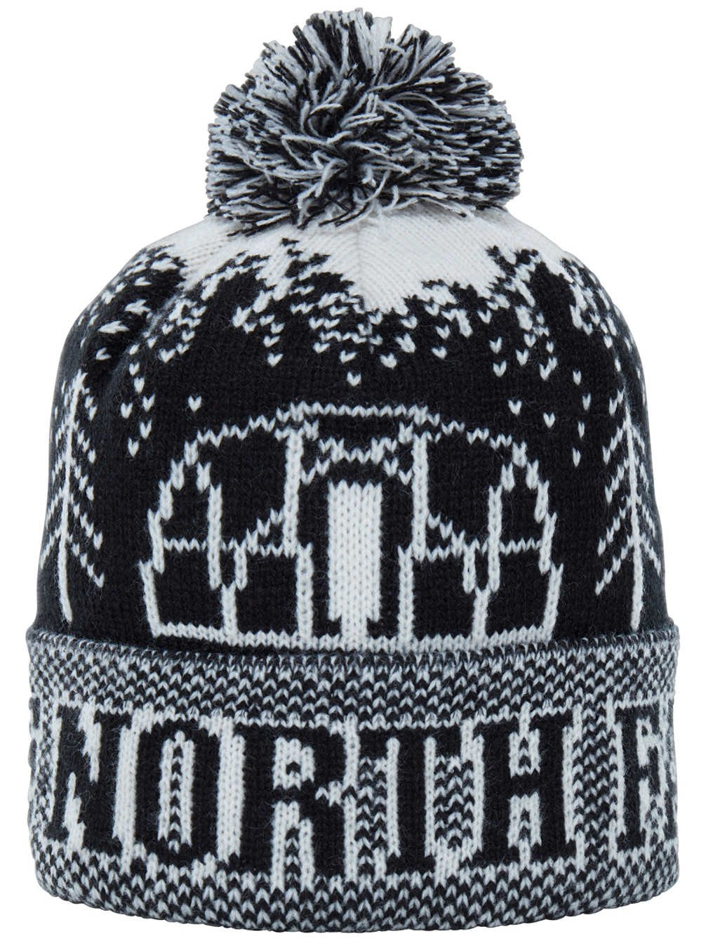 The North Face Men's Fair Isle Pom Beanie (One Size) - black, one size