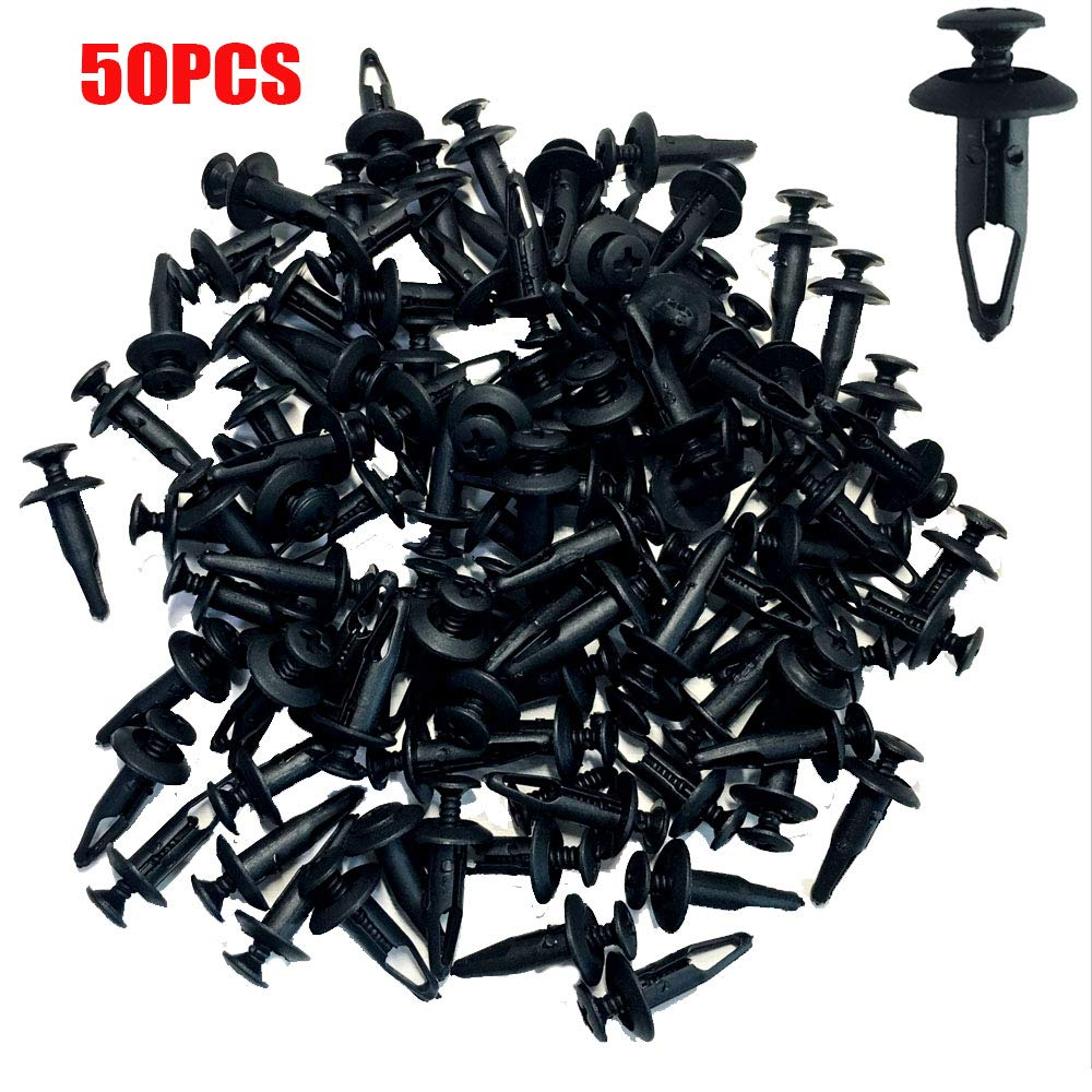 ALLMOST Pack of 50 Plastic Rivet Fastener Screw Bolt Clips for Rhino 450 660 700 Fender Hood Body qty50