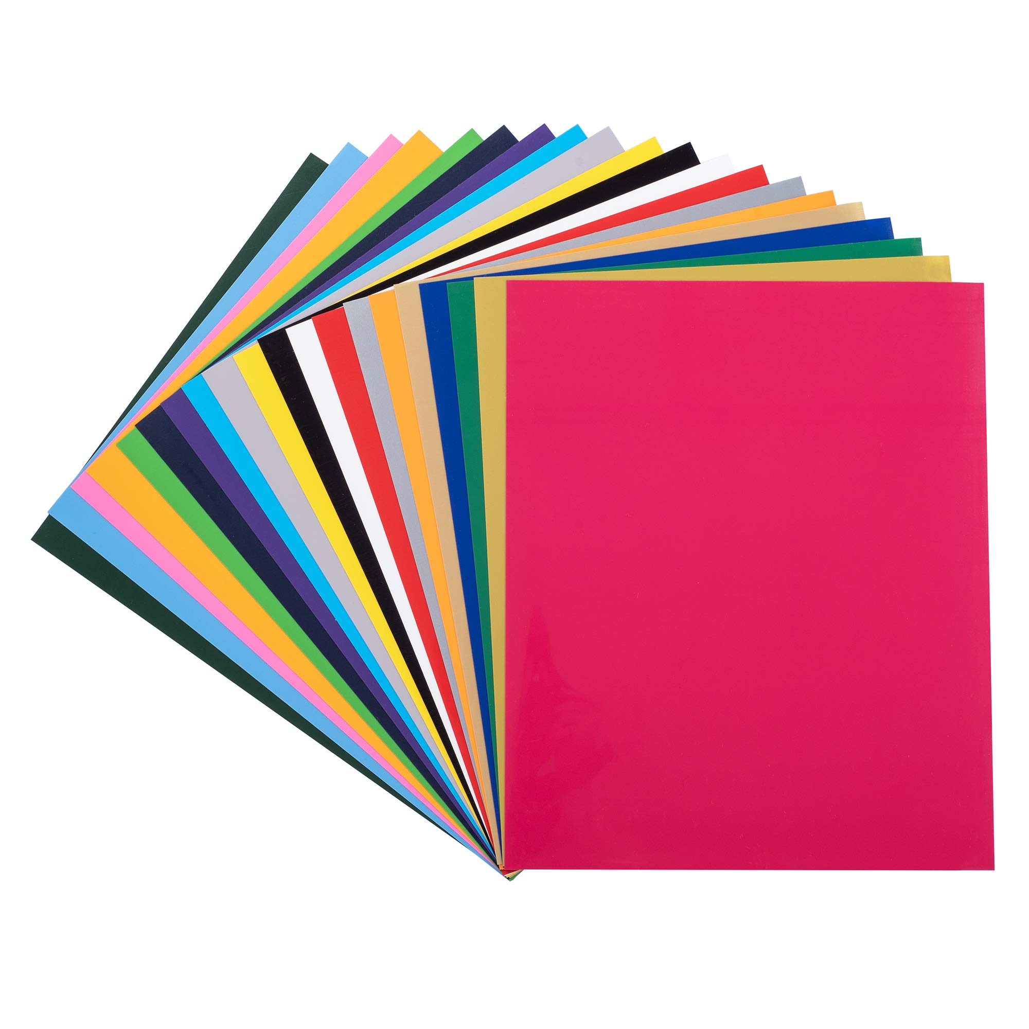 PU HTV Vinyl Bundle 20 Pack 20 Assorted Colors 12″x 10″ Sheets