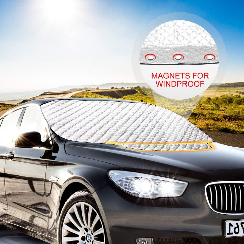 Auto Sonnenschutz Abdeckung Markise,Fahrzeuge Vor Staub Und Sonne Sch/üTzen,Wasserdicht Auto Regenschirm Zelt Sunproof Sun Shade Universal,Bleib Cool,Silver-450/×230cm
