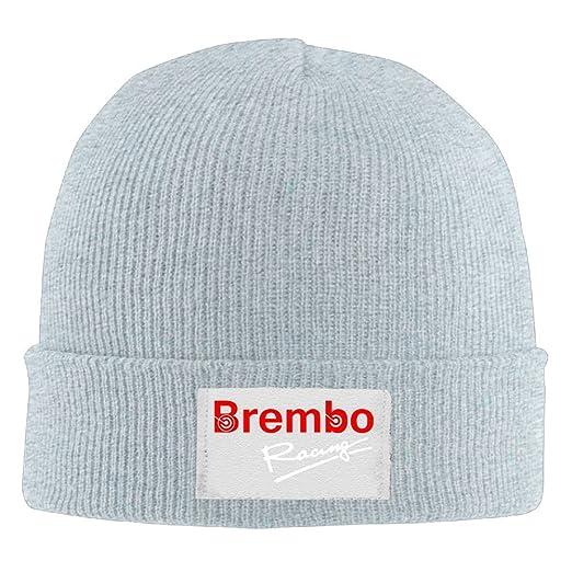 0459d9018bc Amazon.com  Brembo Racing Wool Winter Knit Cap r n Designer Beanie Hats Brim   Clothing