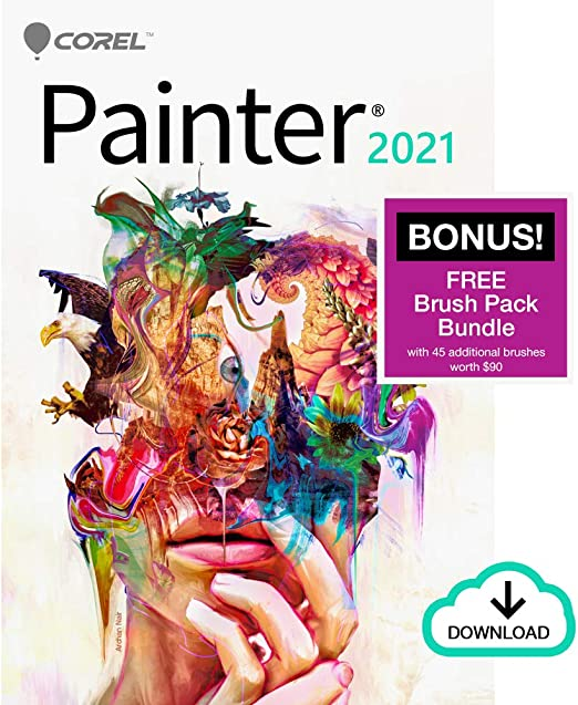 Amazon Com Corel Painter 2021 Upgrade Digital Painting Software Illustration Concept Photo And Fine Art Amazon Exclusive Free Brush Pack Bundle Mac Download Software