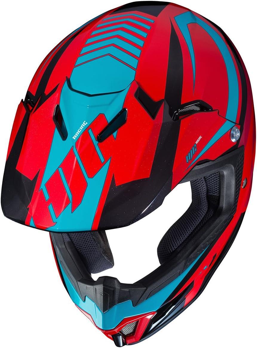 HJC Helmets Unisex-Child Off-Road Style CL-XY II Bator Youth Offroad Helmet Red//Black//Blue Large