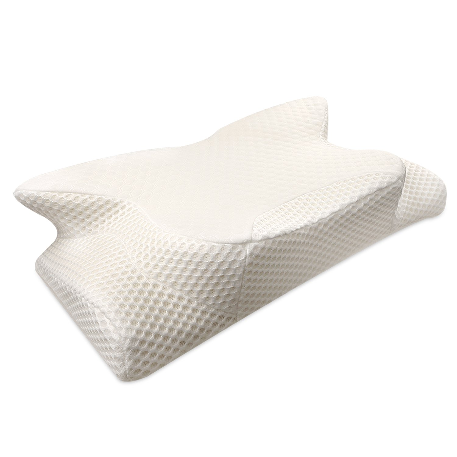 Maxchange Cervical Pillow, Memory Foam Contour Pillow for Neck and Shoulder Pain Relief, Neck Support Pillow for Back/Side Sleepers with Removable and Washable Pillow Case.