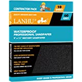 LANHU 60 Grit Sandpaper for Wood Furniture Finishing, Metal Sanding and Automotive Polishing, Dry or Wet Sanding…