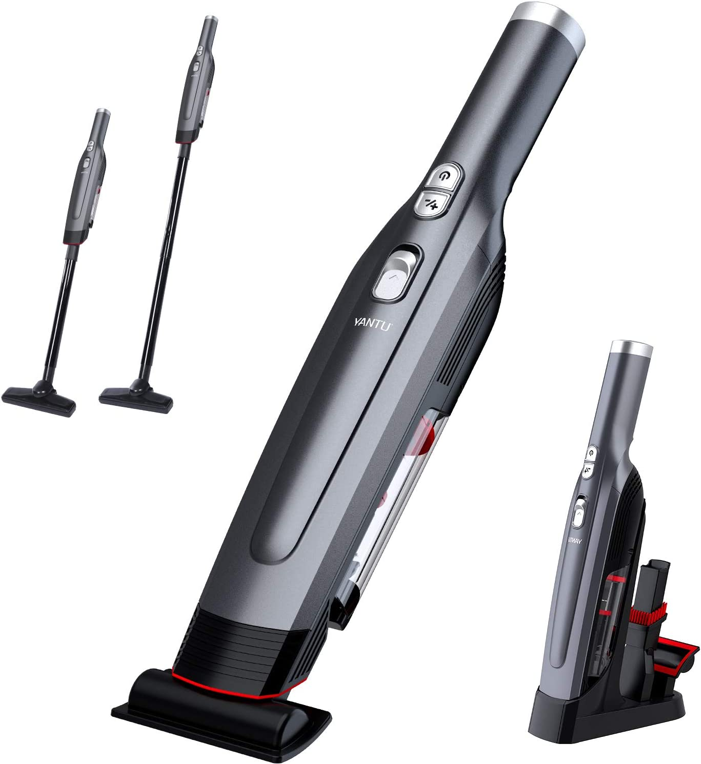 Handheld Vacuum Cleaner, YANTU Vacuum Cleaner Cordless Lightweight Powerful Suction Vacuum Cleaner