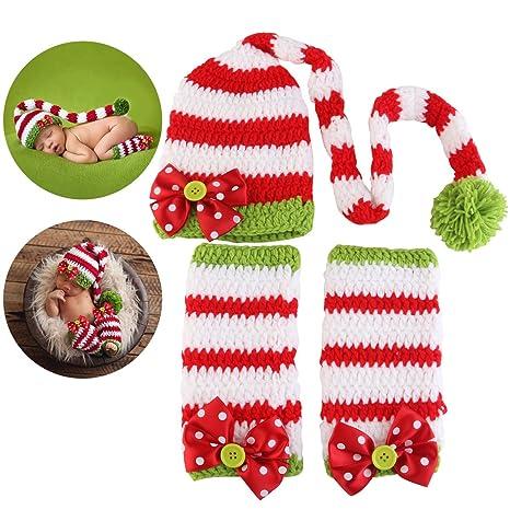 72bf216712da8 NUOLUX Noël bébé nouveau-né à la main vêtements bébé photo accessoires