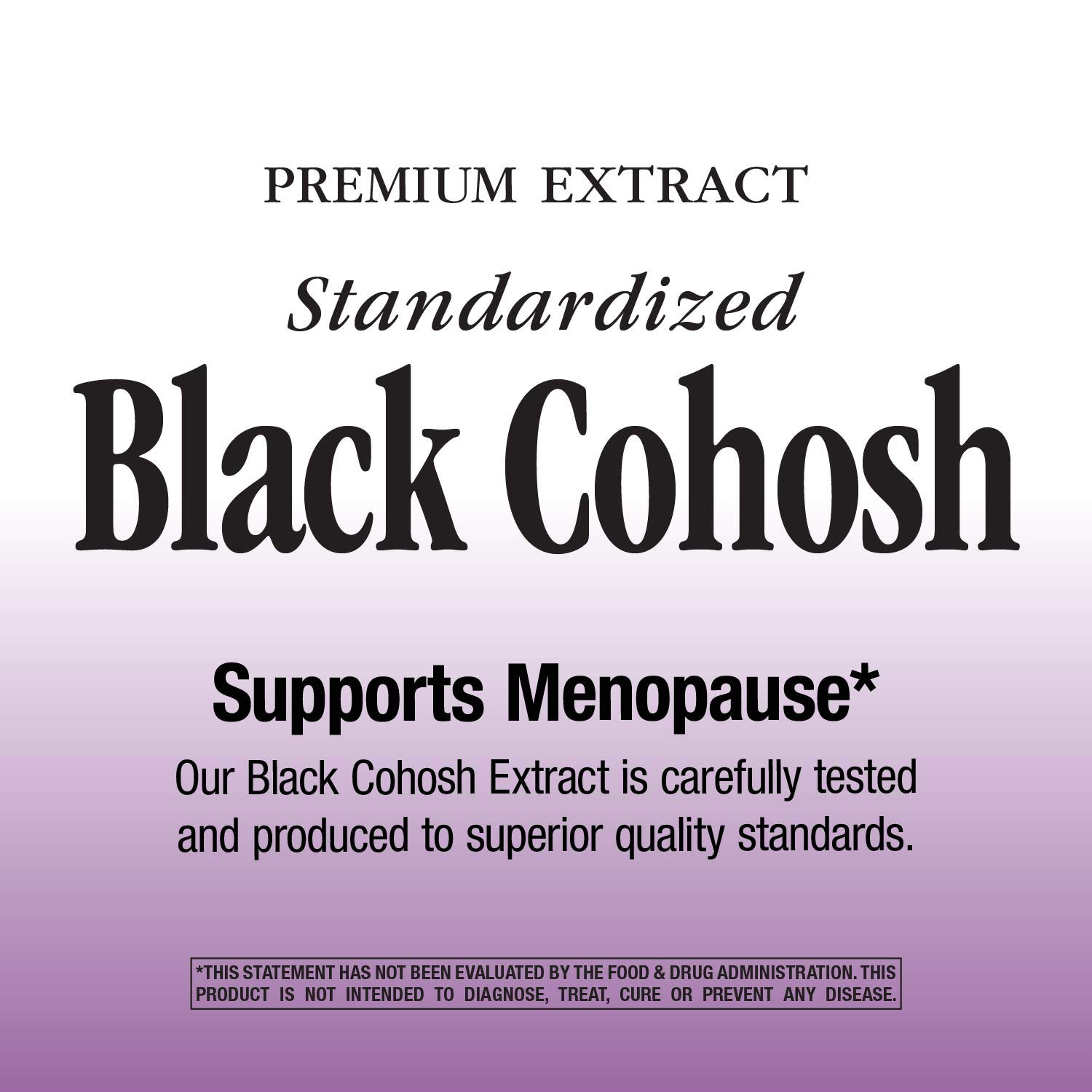 Nature's Way Standardized Black Cohosh; 2.5% Triterpene Glycosides per serving; Non-GMO Project Verified; Gluten Free; Vegetarian; 120 Vegetarian Capsules by Nature's Way (Image #2)