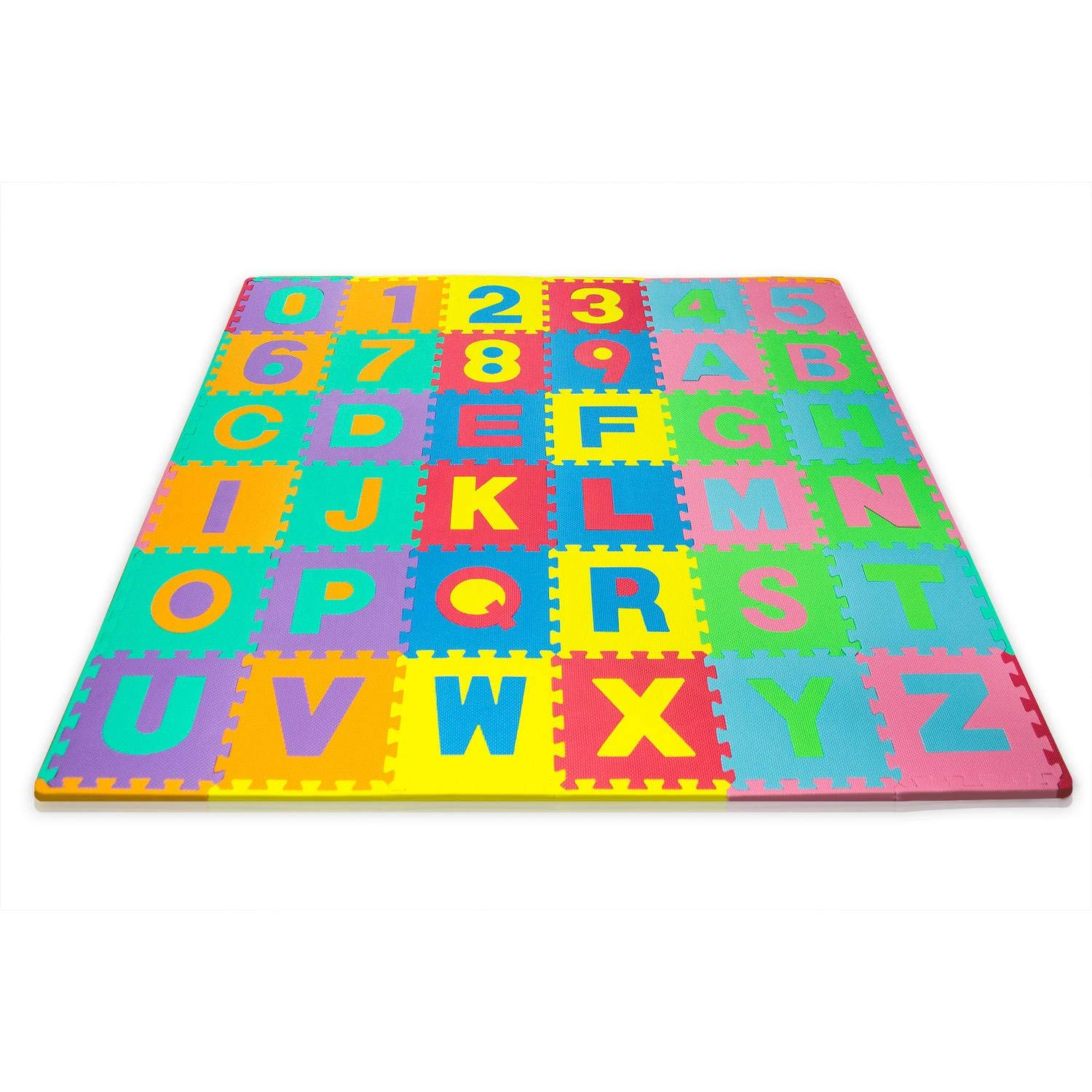 d4b58f8e Matney® Kid's Foam Floor Alphabet and Number Puzzle Mat, Multicolor (36  Piece)