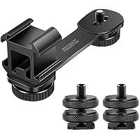 "SZMDLX Triple Cold Shoe Mount Camera Extension Bracket 1/4"" Hot Shoe Mount Adapter 2pcs Gimbal Extension Bracket…"