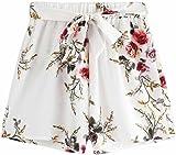 Summer Shorts for Women, BBring Ladies Girls Floral Print High Waist Drawstring Holiday Beach Short Pants Casual Shorts