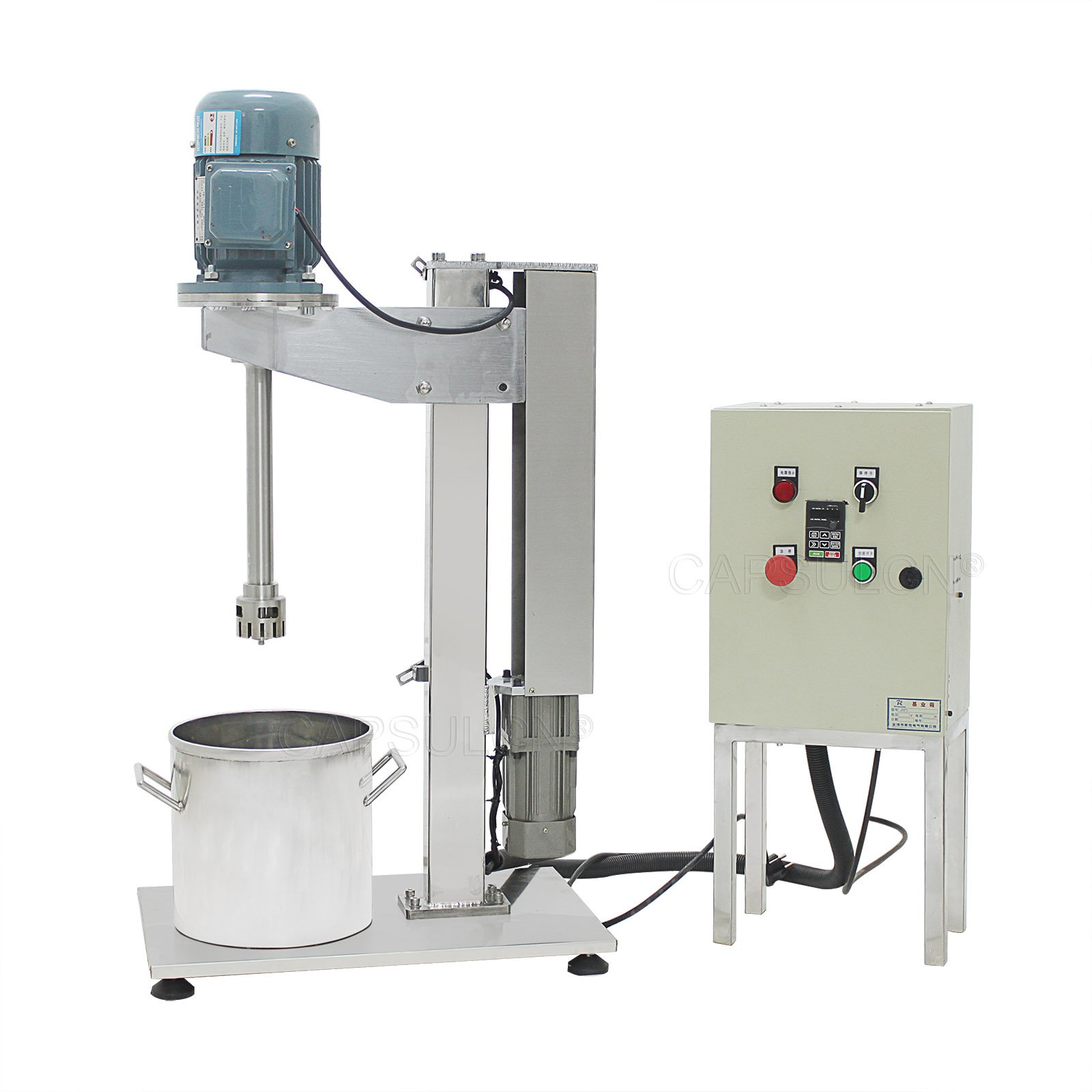 CapsulCN® W-100 High Shear Mixer Machine, 0.55KW for Mixer Disperser Emulsifying Machine,Emulsion Machine (220V/50HZ)