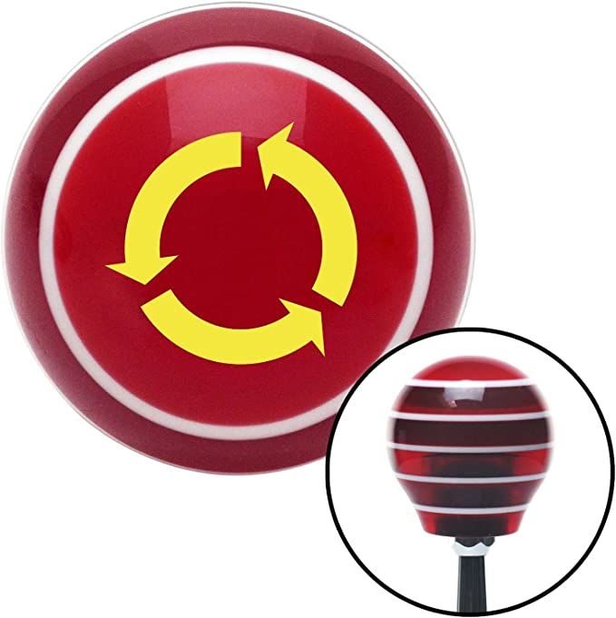 White Shift Pattern 3n American Shifter 100200 Red Shift Knob with M16 x 1.5 Insert