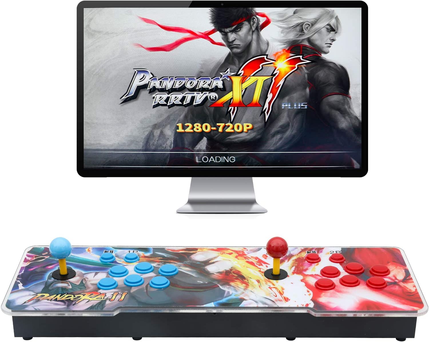 【3003 Games in 1】 Arcade Game Console ,Pandora Treasure 3D Double Stick,3003 Classic Arcade Game,Search Games, Support 3D Games,Favorite List, 4 Players Online Game,1280X720 Full HD Video Game (Red)