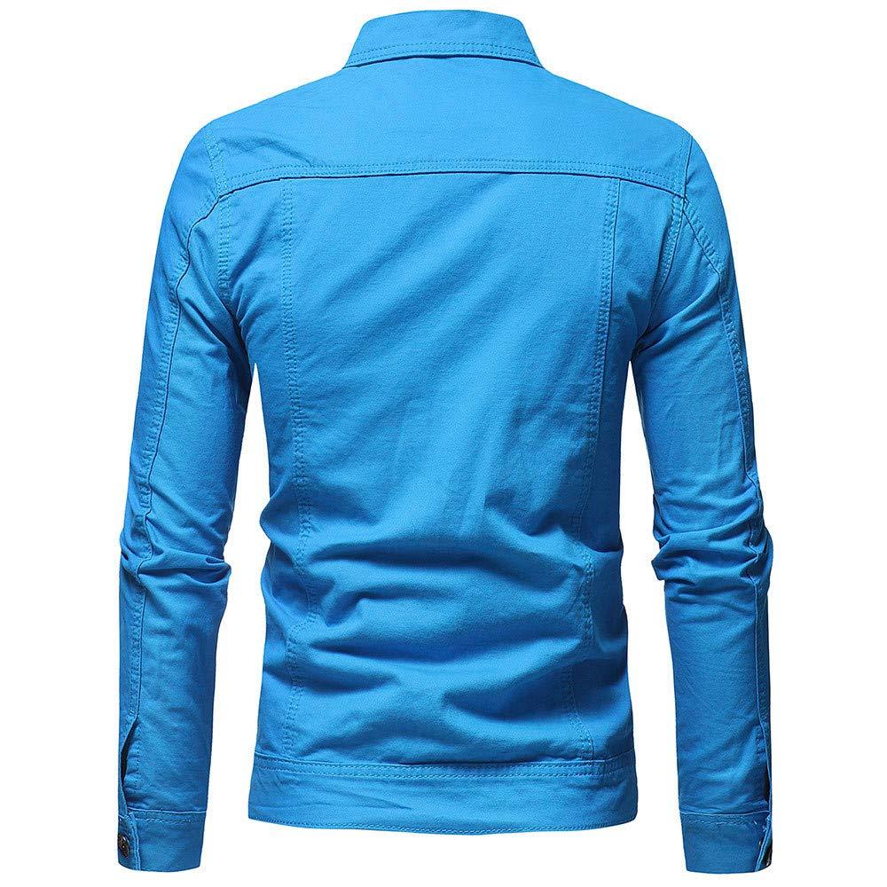 Internet_camisetas de hombre Chaqueta de Mezclilla Vintage Color ...