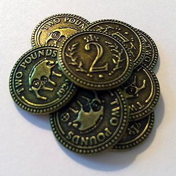 Scythe Promo #10 -15 Metal $2 Coins - Münzen: Amazon.es: Juguetes y juegos