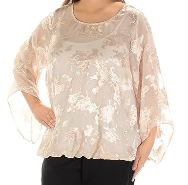 8cafe8e9977 Alfani Plus Size Floral Jacquard Blouson Top at Amazon Women s ...