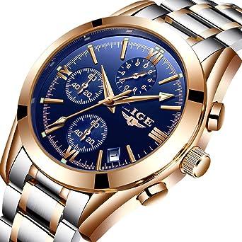 Amazon Com Watches Men Stainless Steel Business Analog Quartz Watch