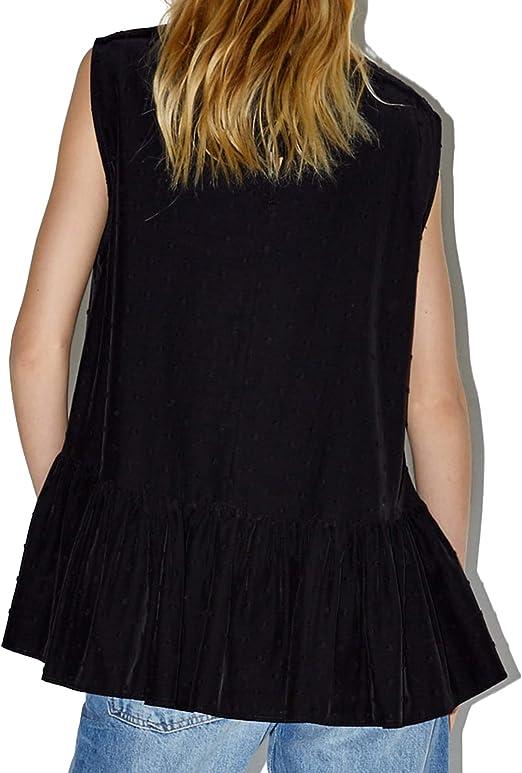 Zara 5216/240 - Camiseta de Malla con Volantes para Mujer ...