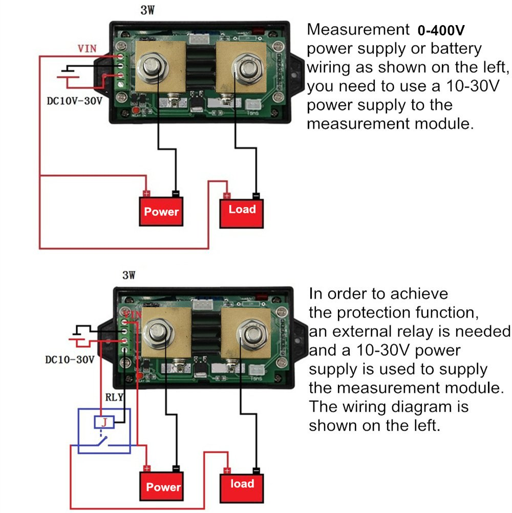 Knacro 400v 300a Dc Multifunctional Wireless Digital Bi Directional 10 Wiring Diagram Voltage Current Power Meter Ammeter Voltmeter Capacity Coulomb Counter