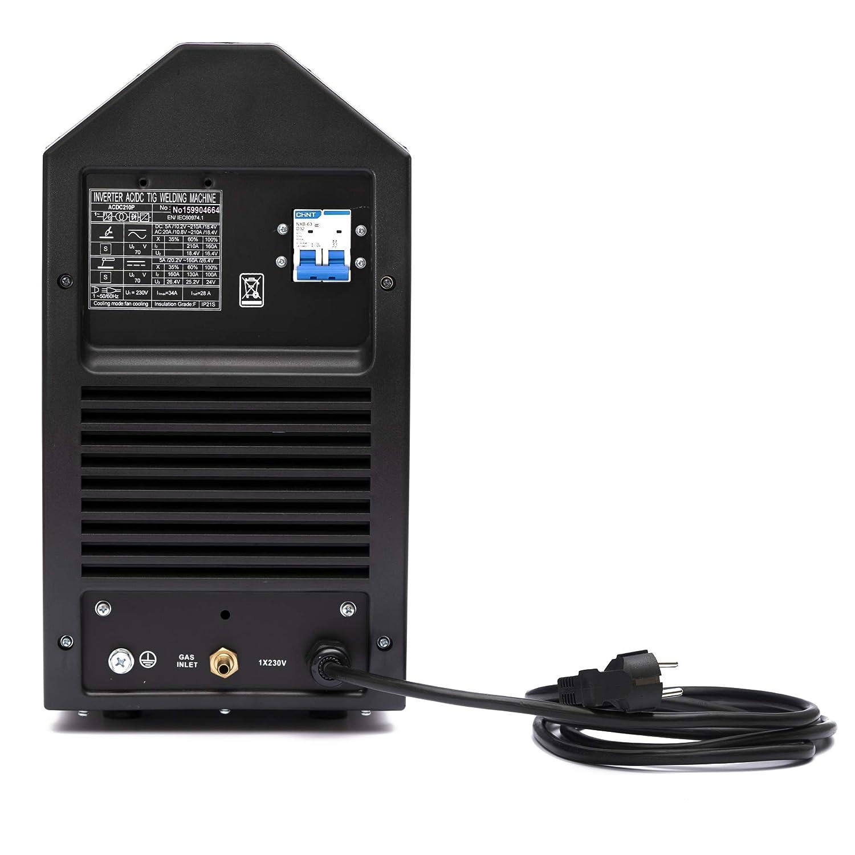 TIG igtb inversor equipo de soldadura NTF AC/DC TIG-210 pulse RF + MMA superior: Amazon.es: Industria, empresas y ciencia