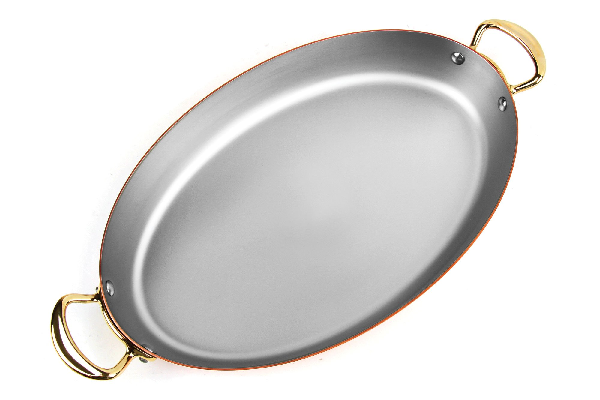 Mauviel 13.75 x 1.75-inch Copper Oval Au Gratin Pan with Bronze Handles by Mauviel (Image #3)