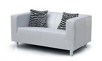 2 Sitzer Sofa Cube 135 X 85 Cm Pu Weiß Amazonde Küche Haushalt