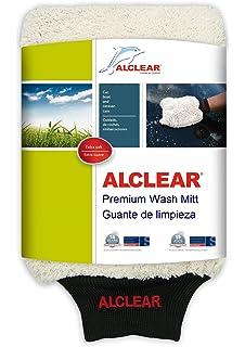 ALCLEAR 950013WH Guante de Microfibra para Lavar el Coche con jabón: Mejor Que una Esponja