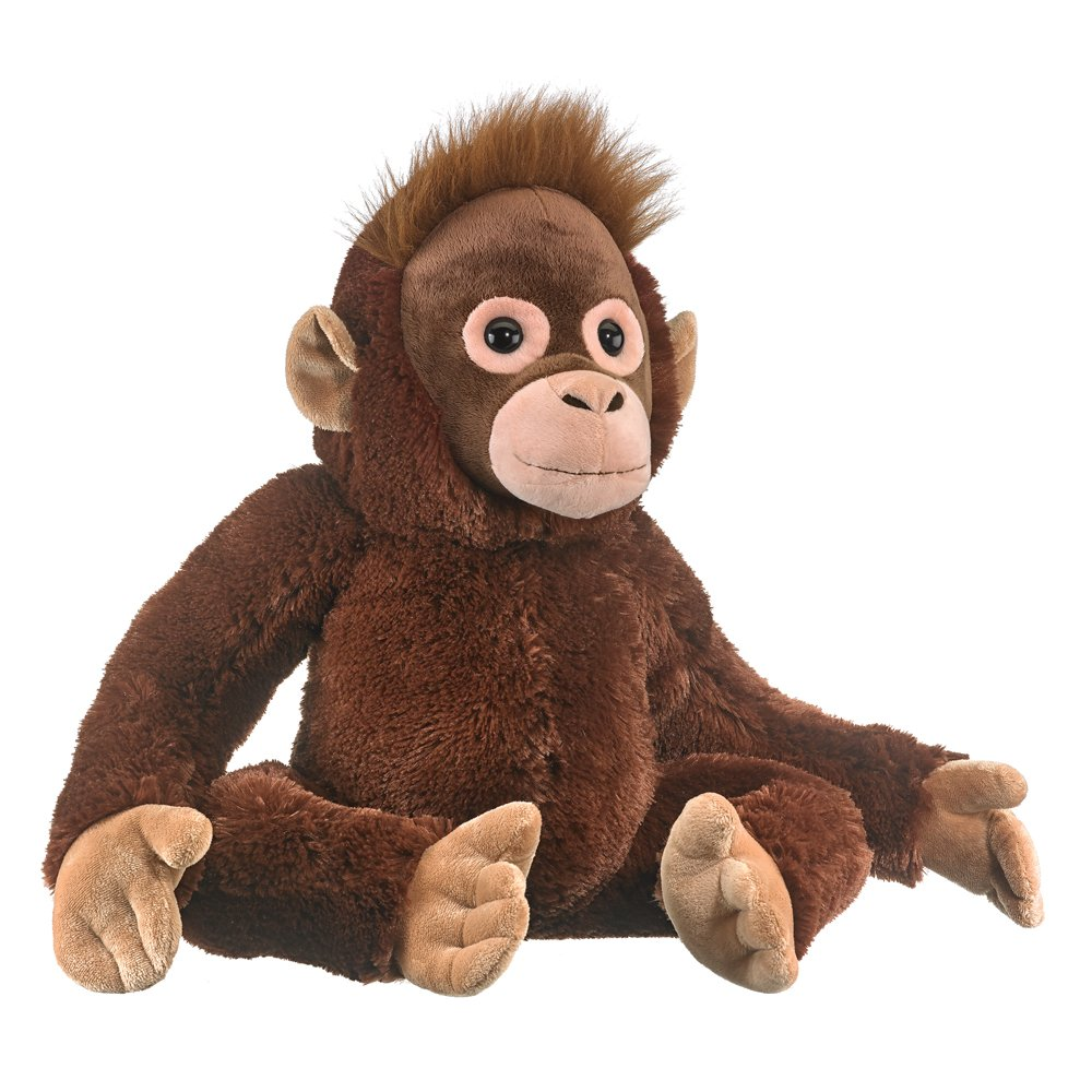 Amazon Com Wildlife Artists Baby Orangutan Plush Toys 21 Stuffed