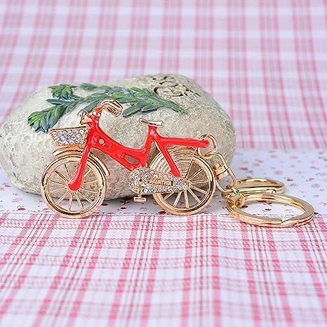 MMD Regalos creativos Llavero Colgante Precioso Bicicleta ...