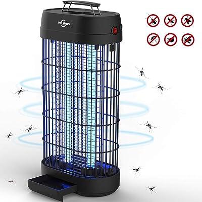 Viflykoo Lámpara Antimosquitos,UV Lámpara Anti Mosquitos Destructora de Insectos eléctrica 22W Sin químicos tóxicos,Trampas para Insectos Matamoscas Area efectiva 100㎡ para Interior y Jardin