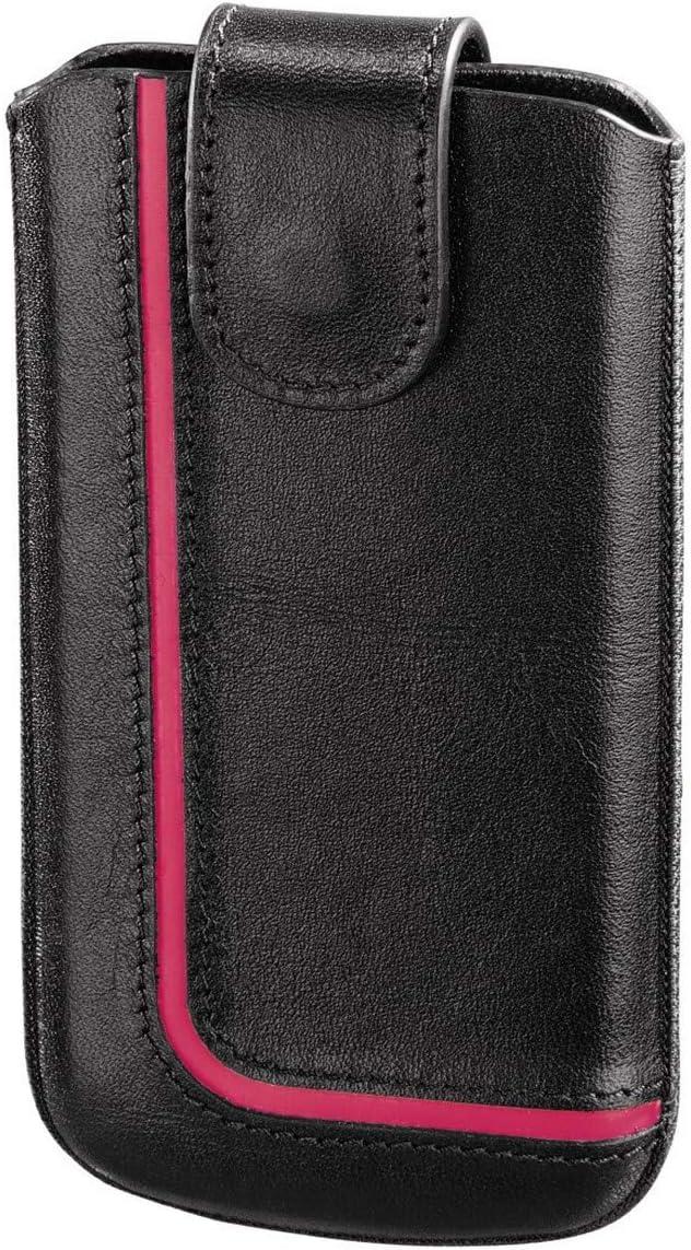 Hama Neon Black funda para teléfono móvil Negro, Rosa - Fundas para teléfonos móviles (Funda, Universal, Samsung Galaxy S4/S4 LTE+ PHICOMM X100 Sony Xperia Z1 Compact Lenovo A390 Motorola Moto X ...,