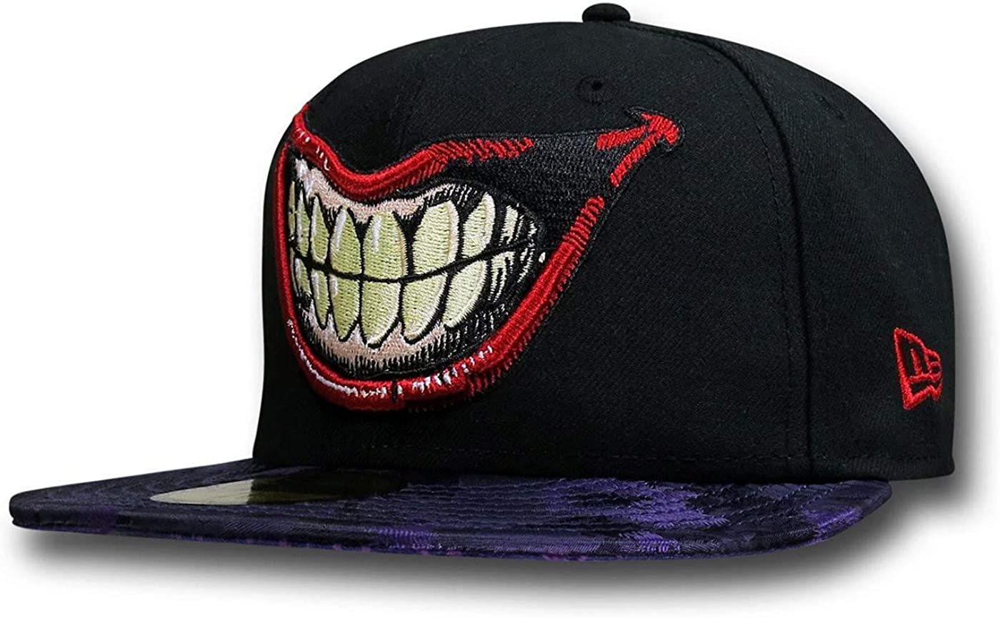 Joker Villain Element 59Fifty Cap 7 5//8 Fitted Black