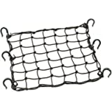 PowerTye 50152 Black 15'X15' Cargo Net featuring 6 Adjustable Hooks & Tight 2'x2' Mesh