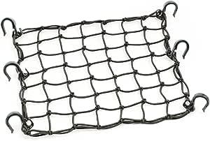 "PowerTye 50152 Black 15""X15"" Cargo Net Featuring 6 Adjustable Hooks & Tight 2""x2"" Mesh"
