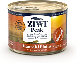 ZIWI Peak Provenance Canned Wet Cat Food – All Natural, High Protein, Grain Free with Superfoods (Hauraki Plains, Case of 12, 6oz Cans)