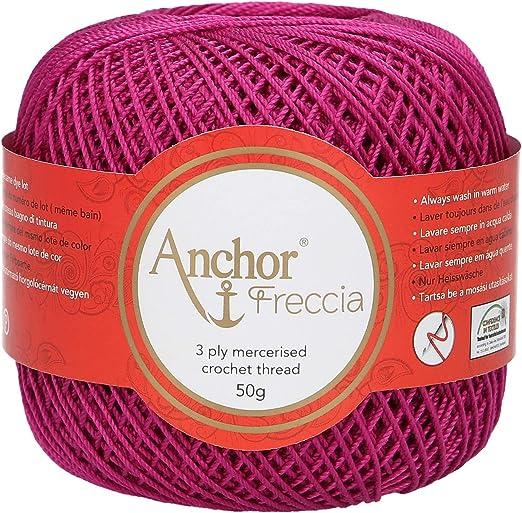 Anchor Freccia - Hilo de ganchillo (grosor 6, 100% algodón), algodón, 00089 Pink, rosa: Amazon.es: Hogar