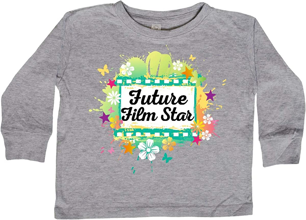 inktastic Actress Future Film Star Toddler Long Sleeve T-Shirt