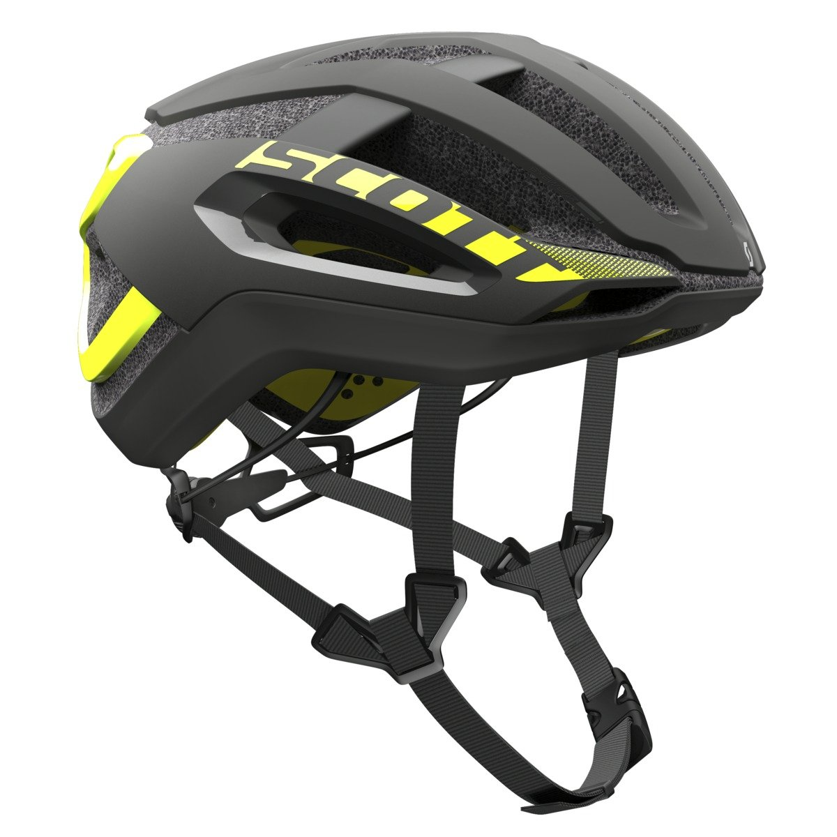 SCOTT(スコット) ヘルメット 自転車用ヘルメット Centric PLUS ブラック、イエローRC M/55-59cm  B01LJVTH8Y