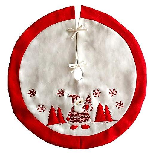 Mars Jun Falda arbol Navidad,Falda Decoración Papá Noel Copo de ...