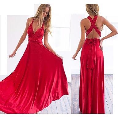 huge discount c33ab 90907 Infinity Kleid, Ballkleid, Brautjungfernkleid, Gr. 34-42 ROT, Wickelkleid  lang, 70 verschiedene Wickelarten, convertible dress, Brautkleid, ...