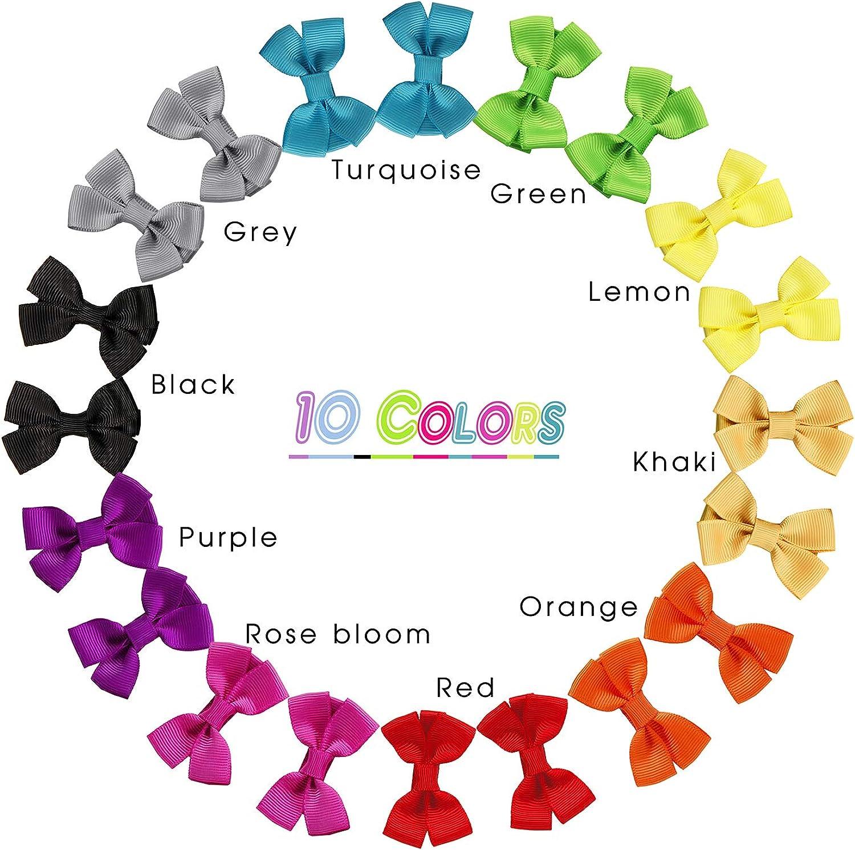 10 Boutique hair bows 4 1//2 inch Choose Colors//Clips
