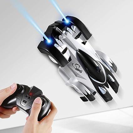 Rc Mur Sgile Rechargeables Électrique Jouet RacerDouble 360 Voiture Mode Grimpeur ° Télécommandée Escalade Véhicule Led De Tournant Stunt n8POk0w