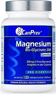 CanPrev Magnesium Bis-Glycinate 200 Gentle, Veggie Capsules 120 Count