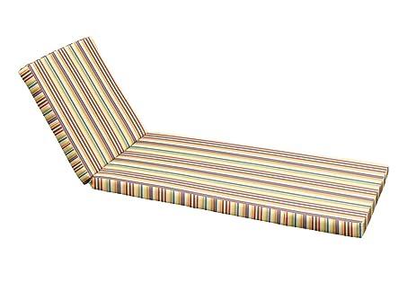 Custom Chaise Lounge Cushion - Sunbrella Castanet Beach (Ties u0026 Multiple Breaks Optional)  sc 1 st  Amazon.com : custom chaise lounge cushions - Sectionals, Sofas & Couches