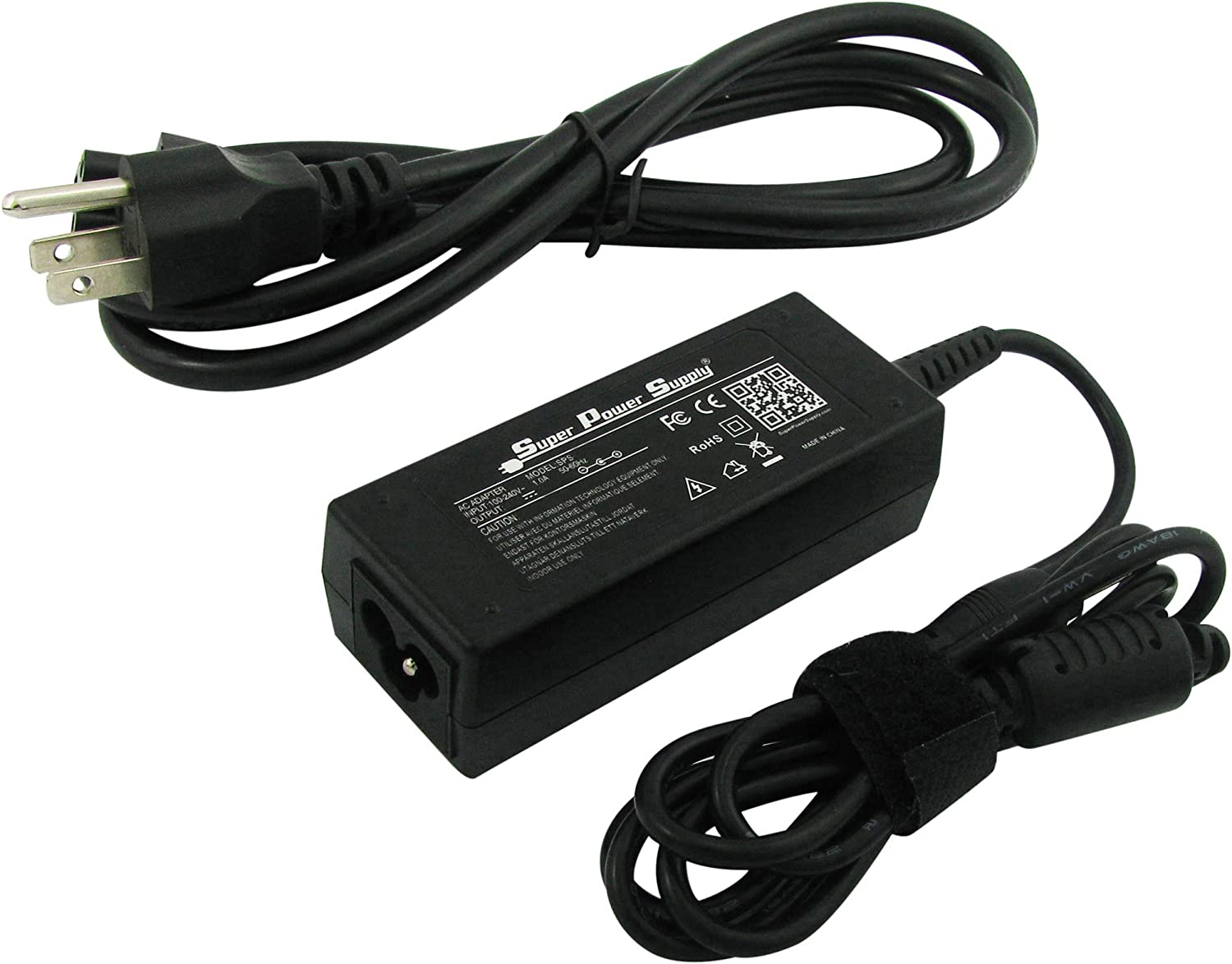 Super Power Supply AC/DC Laptop Adapter Charger Cord for Acer Aspire One D250-1610, D250-1706, D250-1738, D250-1Bb, D250-1Br, D255-1134, D255-1203, D255-1549 ; 40W Netbook Notebook Battery Plug