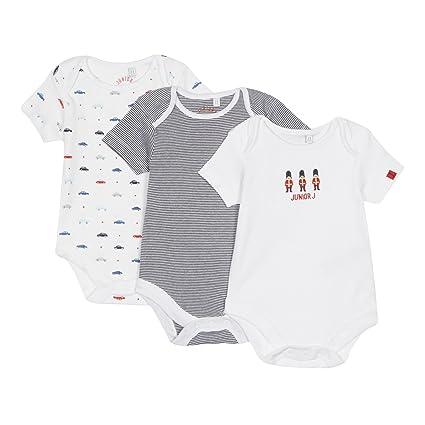 dec5d40c7 JBy Jasper Conran - Juego de 3 body para bebés con estampado de color blanco  y