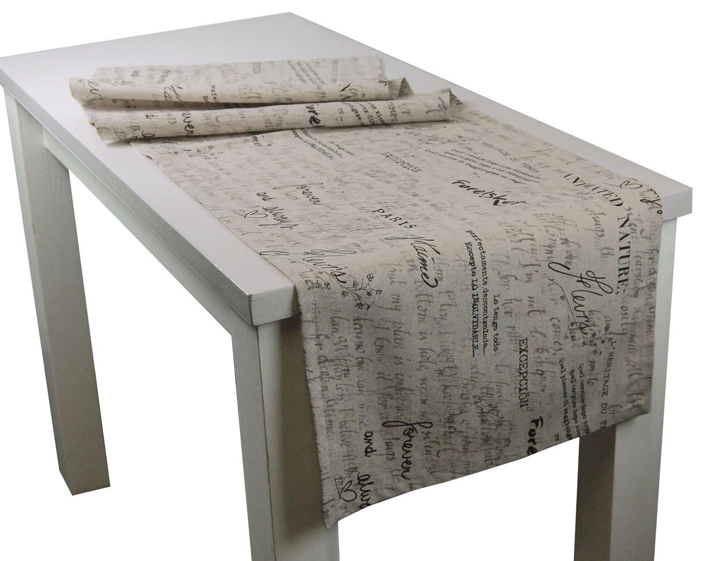 beties Für Immer Nackenrollen Bezug ca. 15x40 cm 100% Baumwolle im Liebesbrief-Style Jute-Toffee