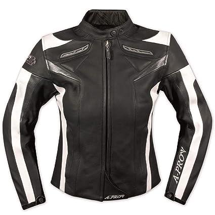 A-pro Chaqueta de piel mujer moto racing All Season ...